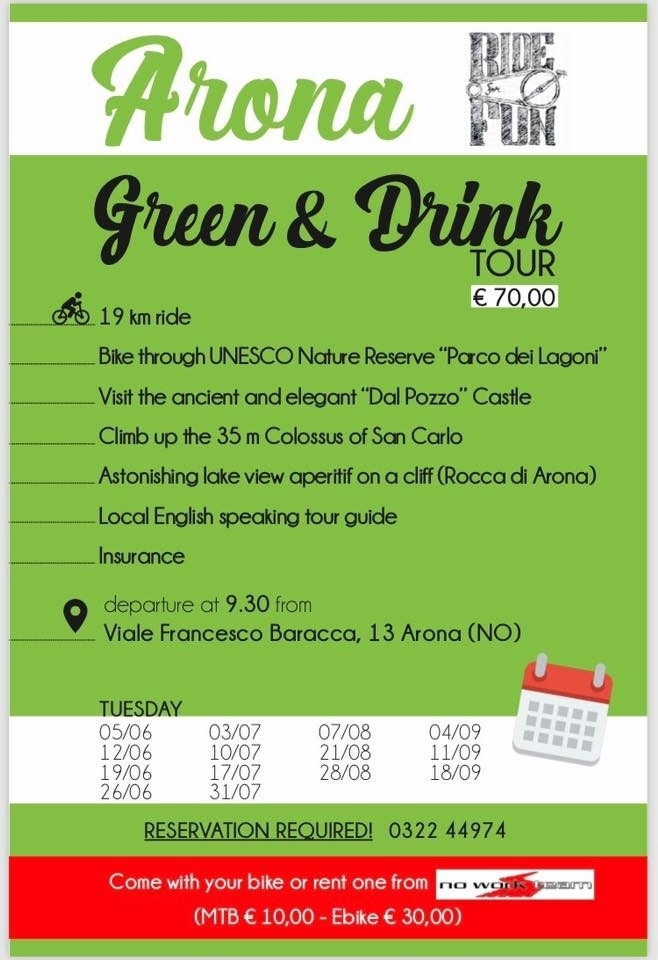 Arona Green & Drink - tour in bici - No Work Team Srl